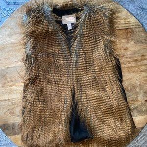 NWOT women's fur vest